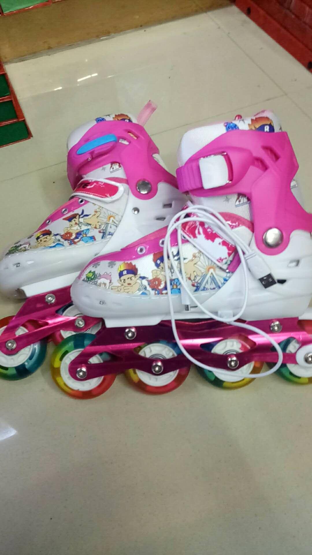 溜冰鞋成人成年旱冰直排轮滑冰鞋儿童全套装大学生初学者男女专