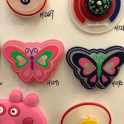 PVC蝴蝶卡通动物魔术贴/衣贴/绣标/标贴