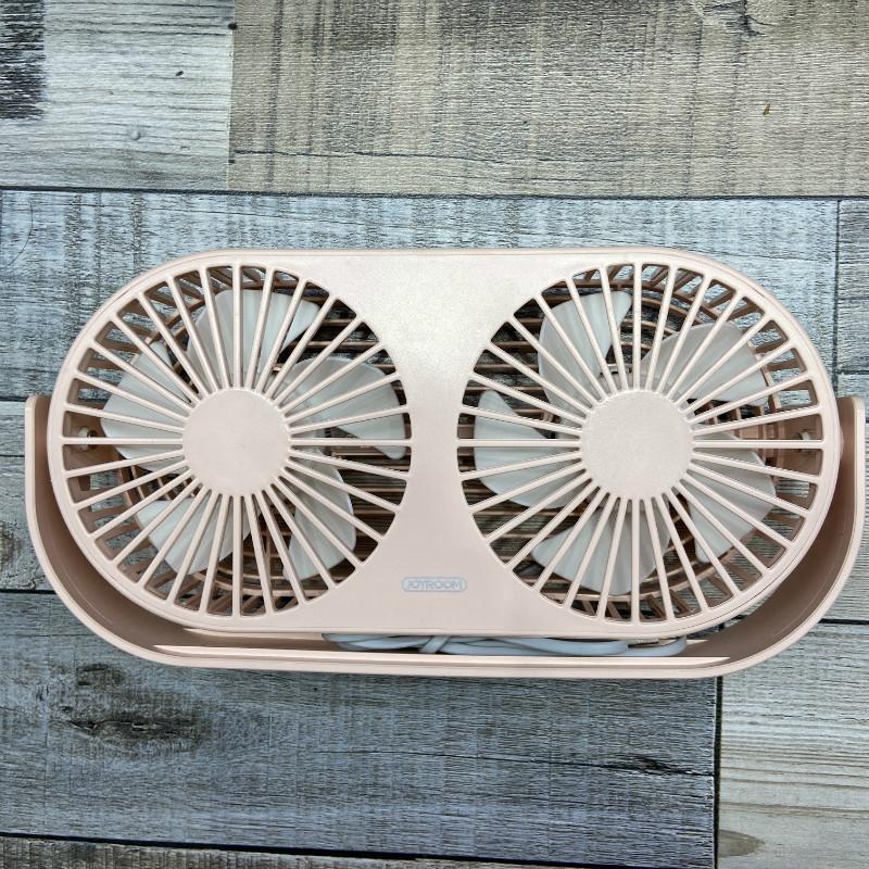 双核扇叶usb迷你小风扇静音可爱手持便携式随身带充电式 台式电风扇