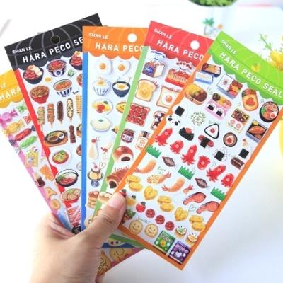 相册装饰素材工具日式透明和纸手账诱人食物寿司糖果雪糕粘贴纸