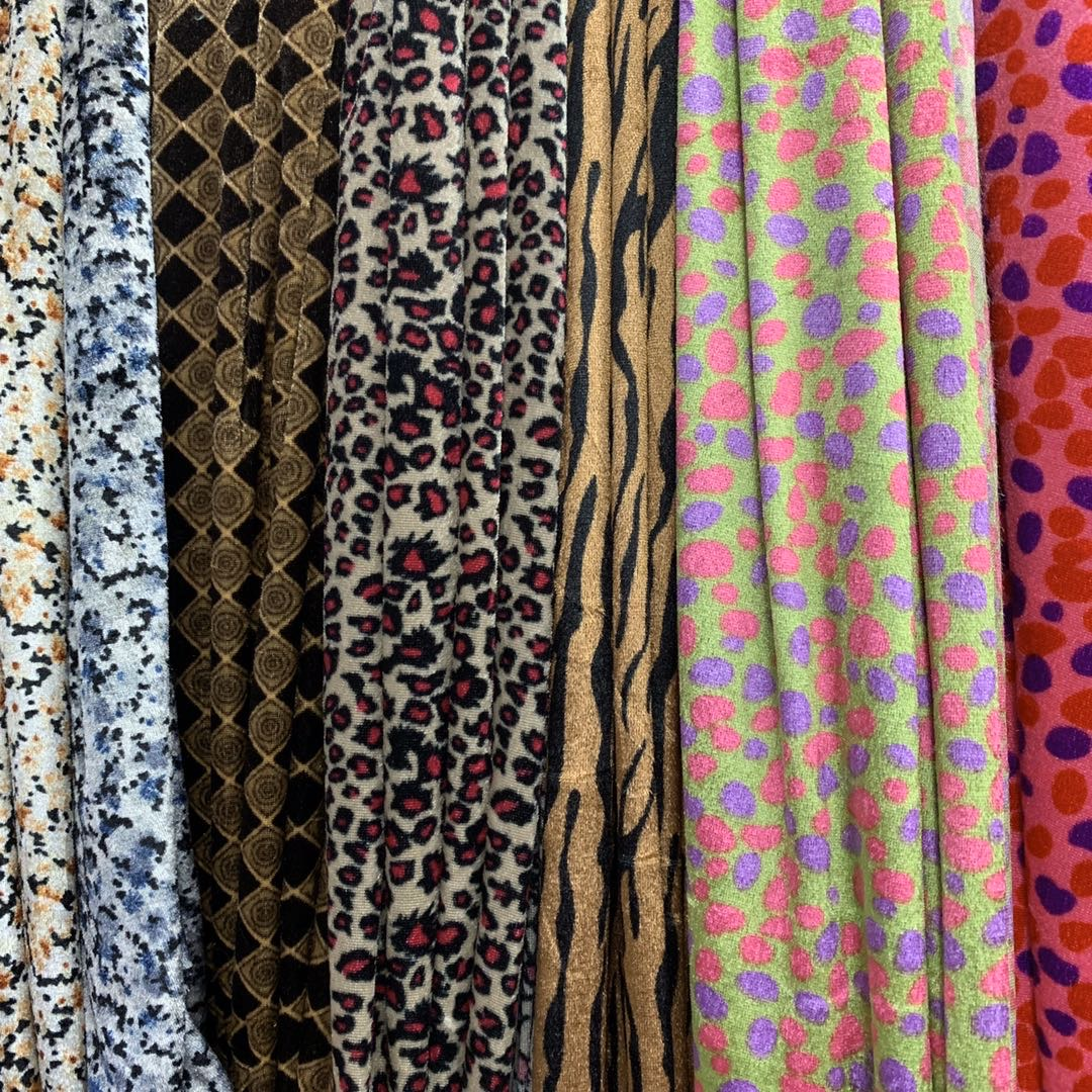 金丝绒密丝绒印花舞台装服装玩偶布艺发饰各种工艺品布料