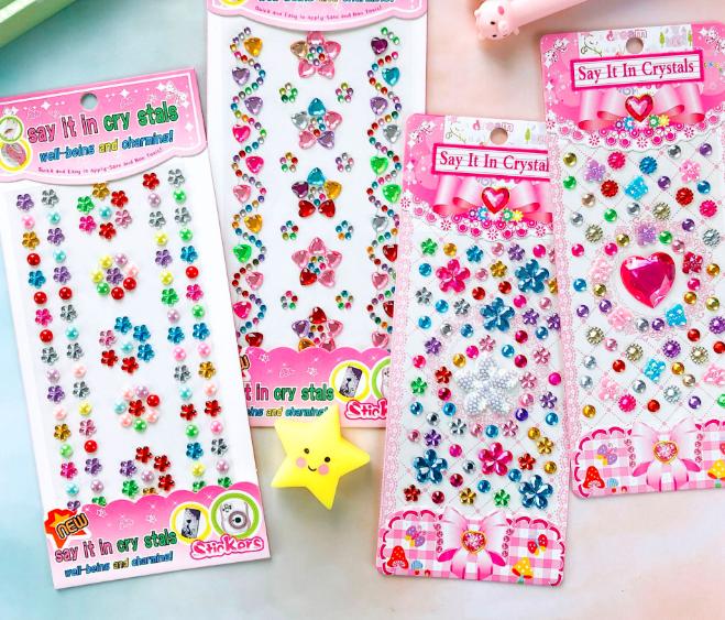 钻石贴纸儿童女孩演出创意手工diy装饰珠子宝石亚克力立体钻贴