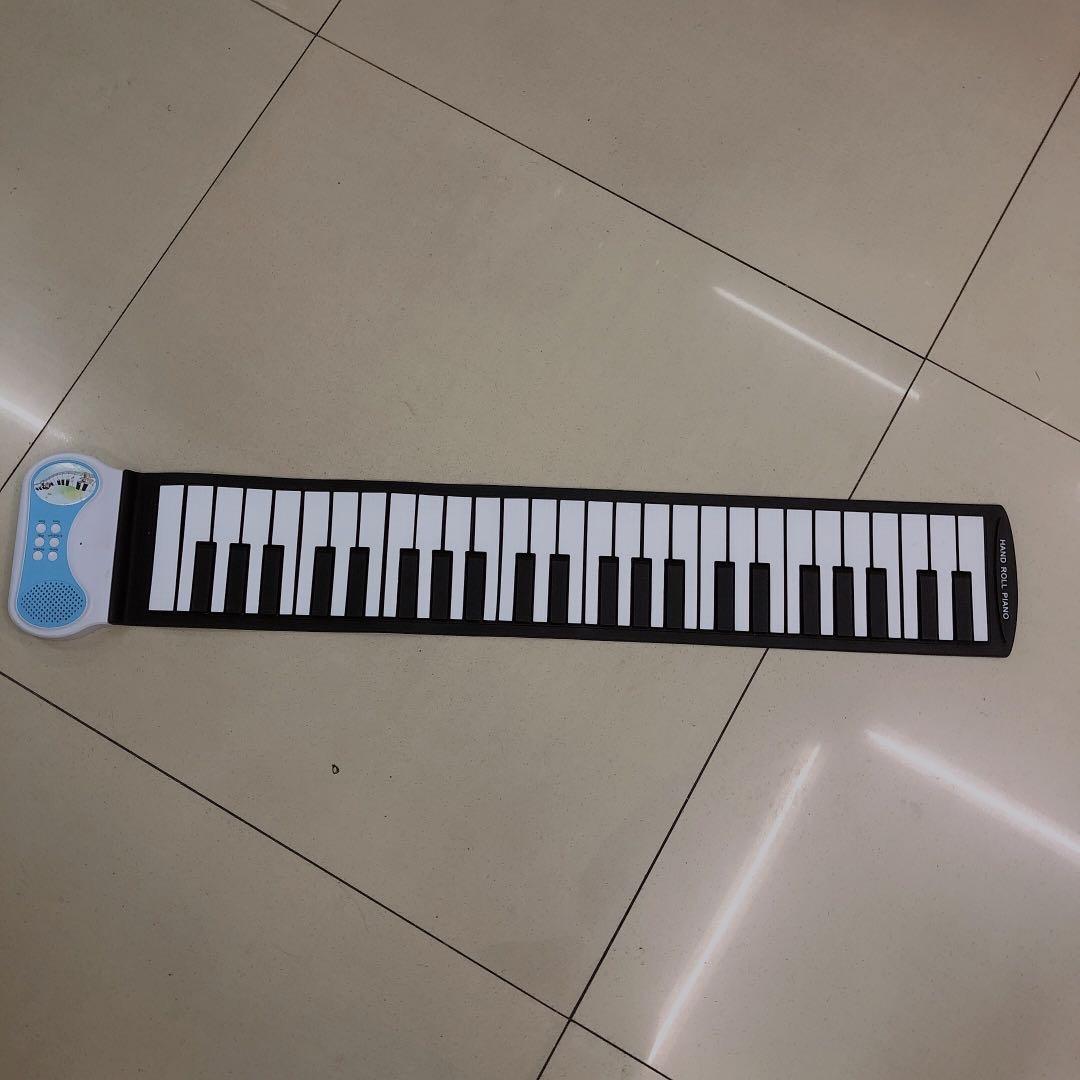 便携手卷电子琴手卷钢琴软钢琴硅胶折叠49键手卷琴批发