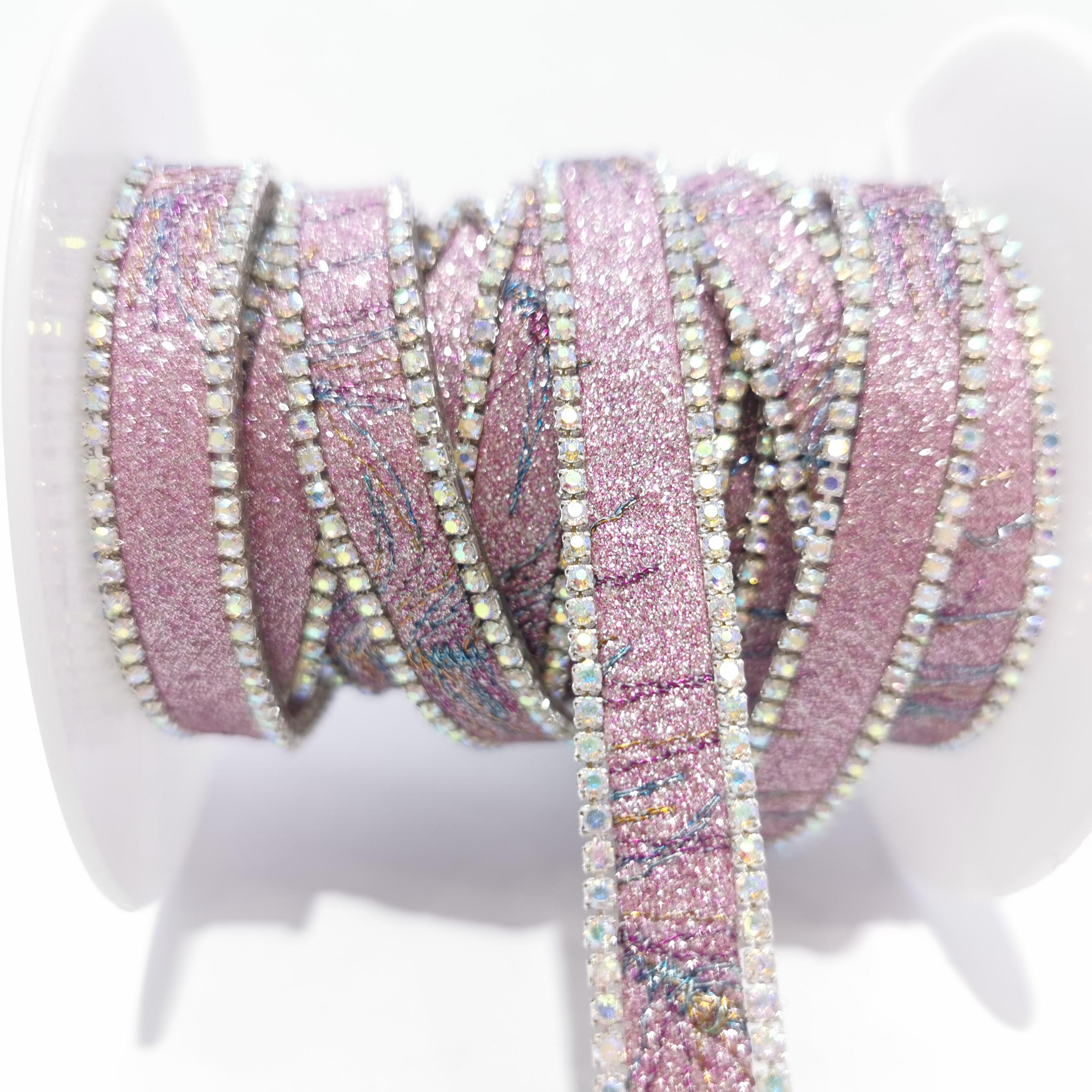 小珠+水钻链条码链服装饰品配件DIY手工饰品
