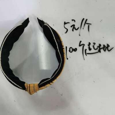 韩版时尚洋气百搭女士布艺头饰雪纺格子发夹