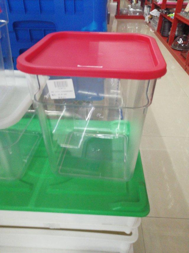 长方形商用塑料密封保鲜盒冰箱专用食品级大容量厨房食堂收纳盒子