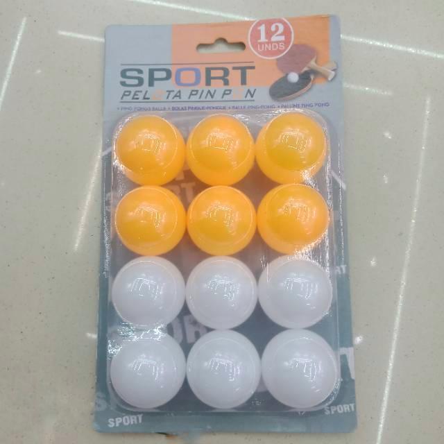 黄白乒乓球12颗盒装乒乓球