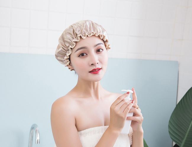 双层防水浴帽成人女款洗澡头发罩淋浴头套帽子沐浴发套防油烟发帽