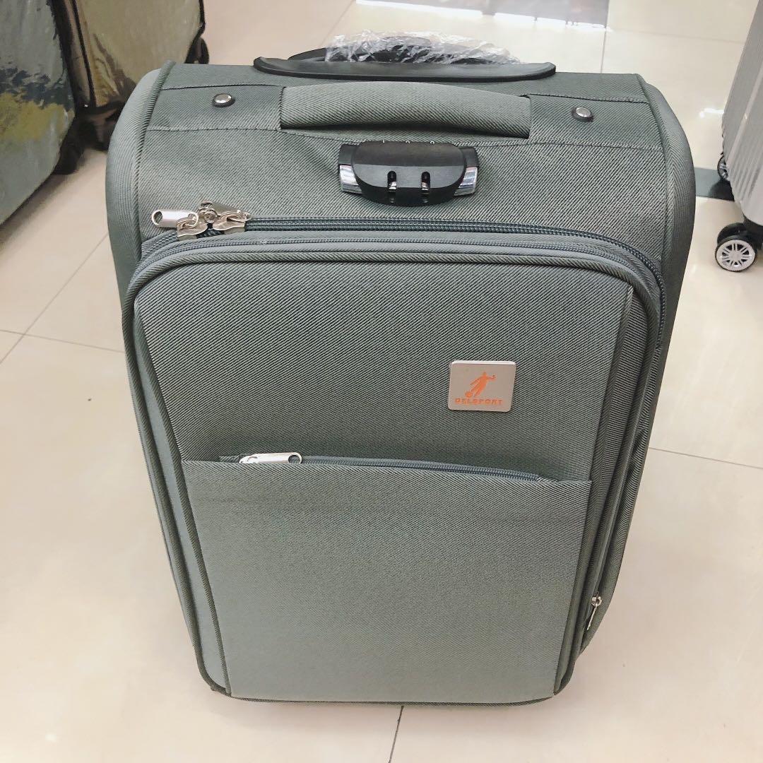 纯色帆布拉杆箱超轻帆布旅行箱托运行李箱子万向轮批发