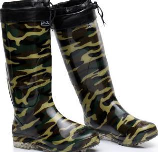厂家直销男士高筒雨鞋防滑防水雨鞋牛筋底安全劳保雨鞋长筒雨靴3