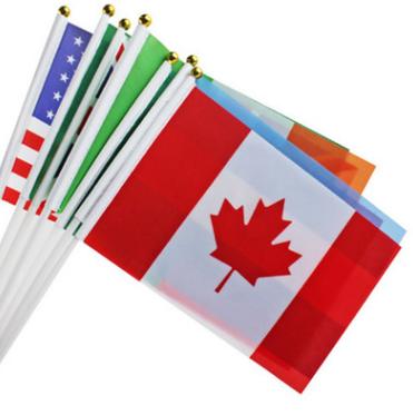 直销批发世界各国国旗优质8号加拿大小