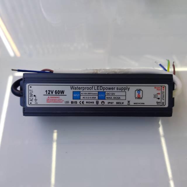 直流防水电源12V变60W变压器室外广告灯箱低压电源适配器
