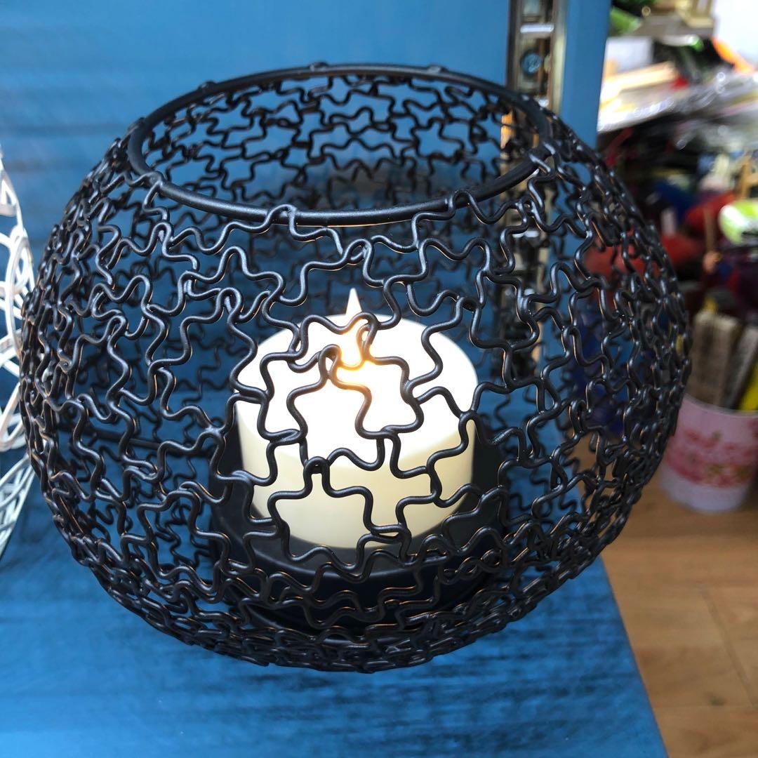 厂家直销黑色镂空节能灯电子蜡烛高档礼品