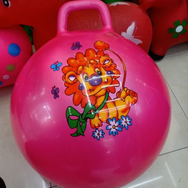 PVC材质3岁以上儿童跳跳球手柄球