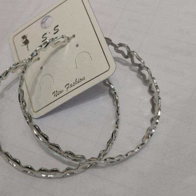 外贸出口耳环镂空合金桃心型耳环网红同款