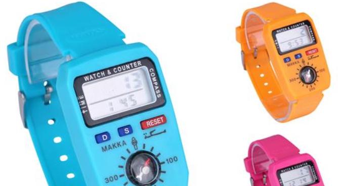 1023手表款式计数器时间指南针电子手表计数器