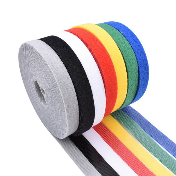数据线理线带可裁剪背对背魔术贴绑带工厂批发彩色尼龙魔术贴扎带