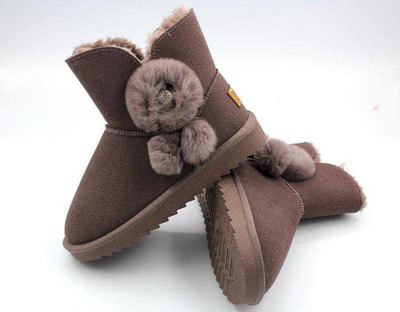 秋冬女士防泼水防涂成雪地鞋短靴