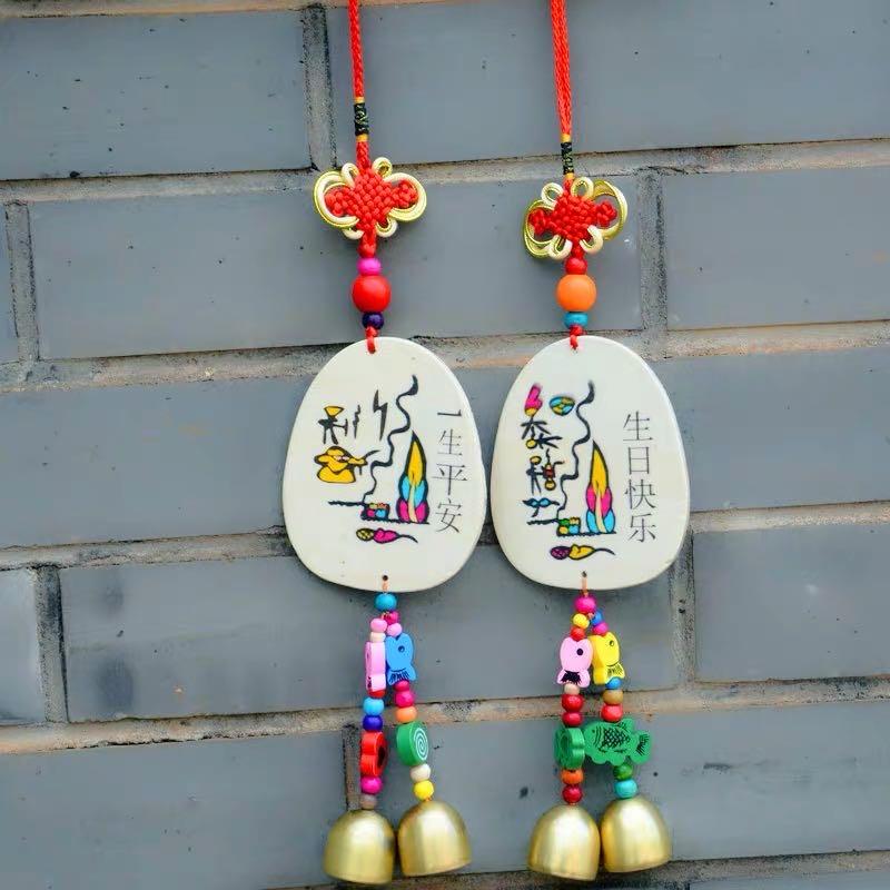 金属铃铛风铃挂件门饰云南丽江中国结许愿木牌景区热卖装饰品礼物