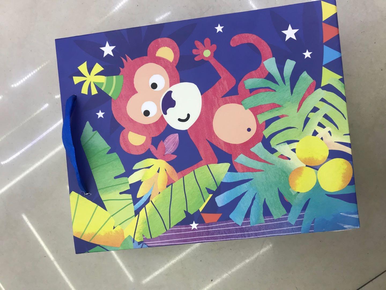 猴子图案礼品手提袋