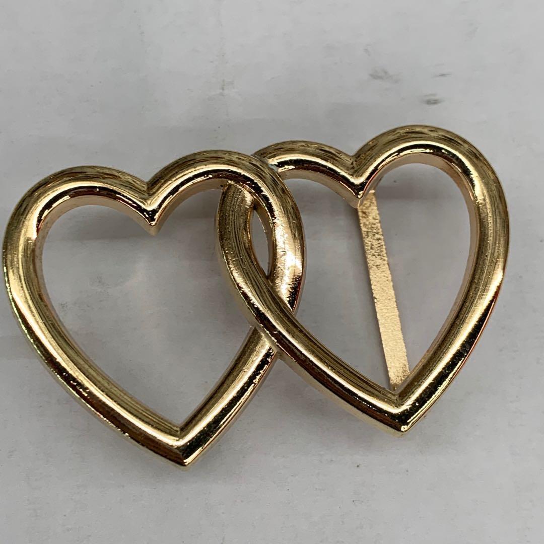 批发时尚新款爱心金色皮带扣针扣腰带扣