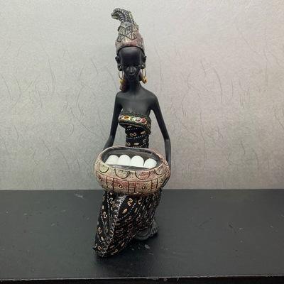 女佣洗菜非洲黑人工艺品树脂摆件欧式礼品树脂现代家居摆设装饰品礼物装饰品