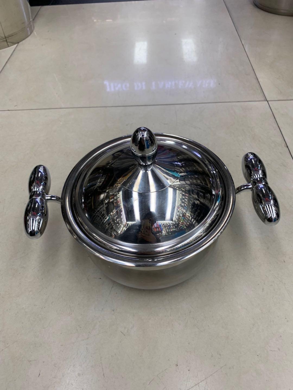 304不锈钢燃气电磁炉用家用双耳蒸煮锅拉面锅炖锅
