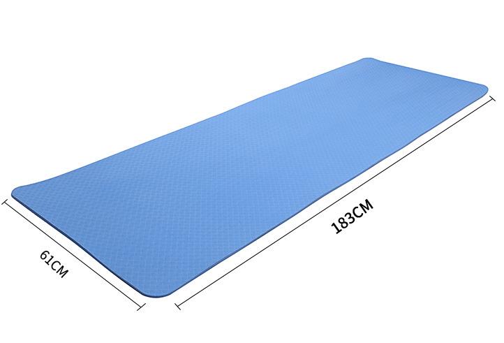 环保无甲醛健康8mm厚tpe防滑瑜伽垫运动健身垫
