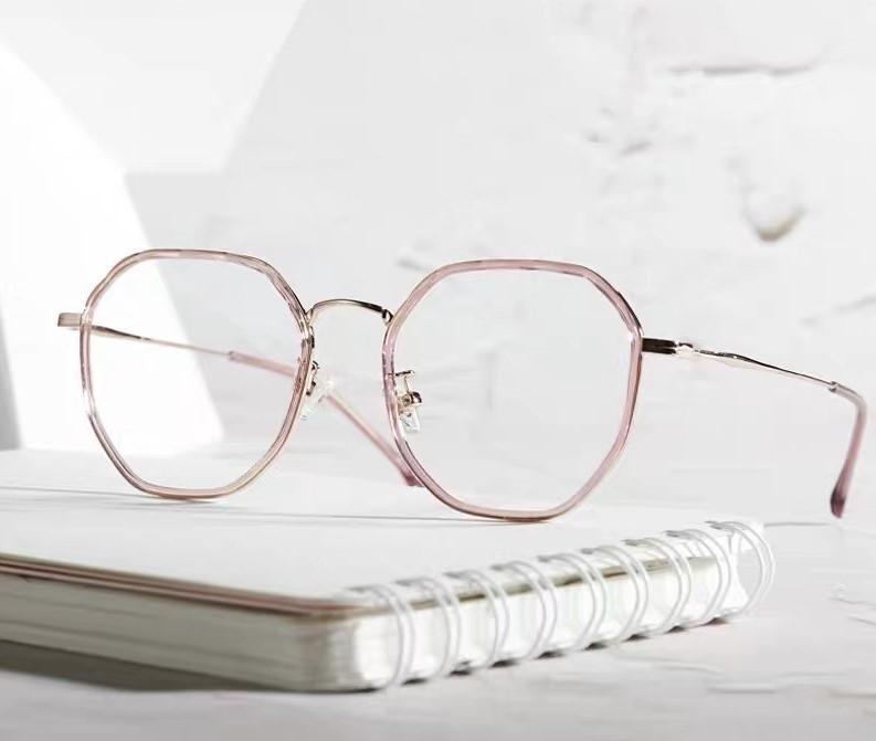 帕莎psr正品新款眼镜架防蓝光近视镜女款时尚网红多边形眼镜框波T76282