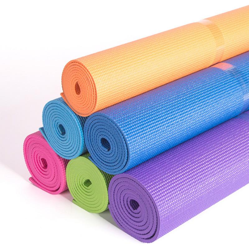 6mm加厚防滑发泡单色运动垫瑜伽垫健身垫瑜伽毯可折叠定制生产