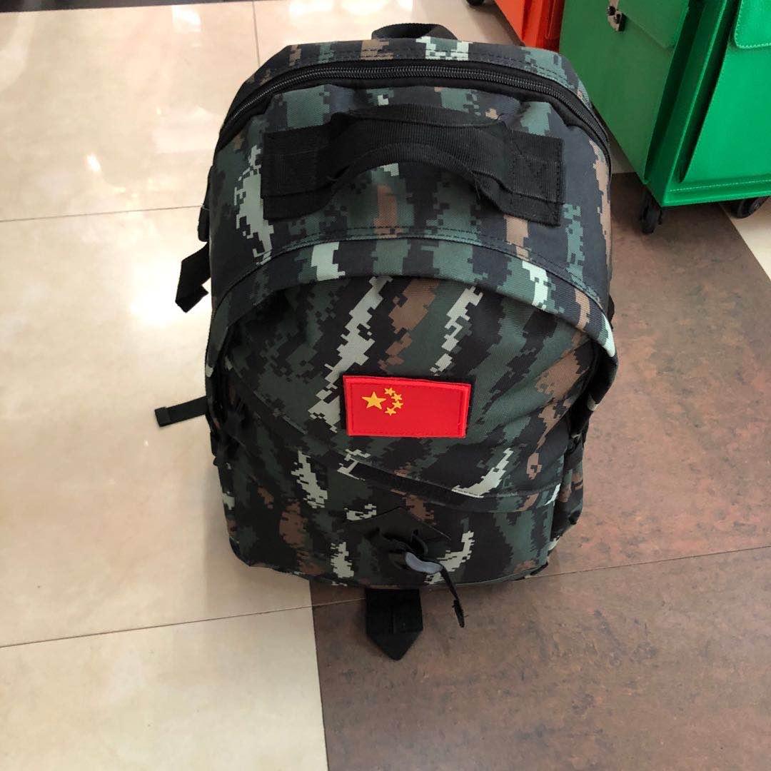 新款迷彩背包男军户外战术双肩包虎斑军迷旅行包登山学习包