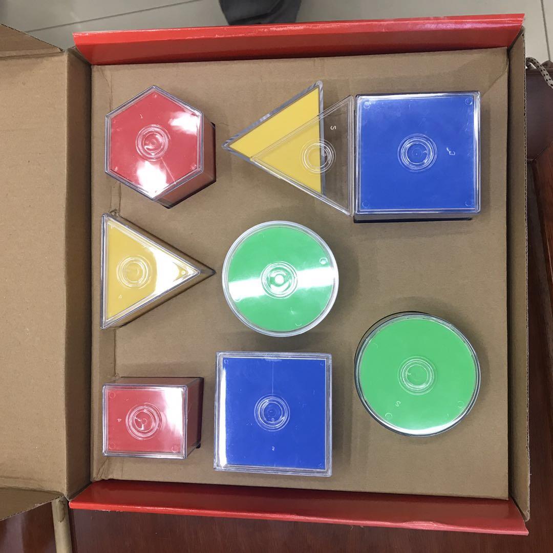 立体几何形体八件套模型小学数学教具正方体长方体圆柱表面积可展开