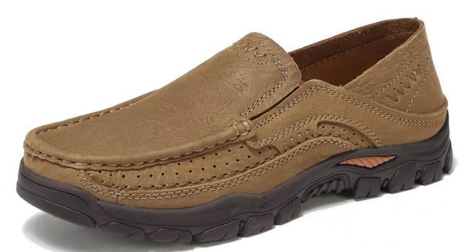 休闲鞋2020年春季新款头层牛皮欧美风均码潮流款男士休闲鞋