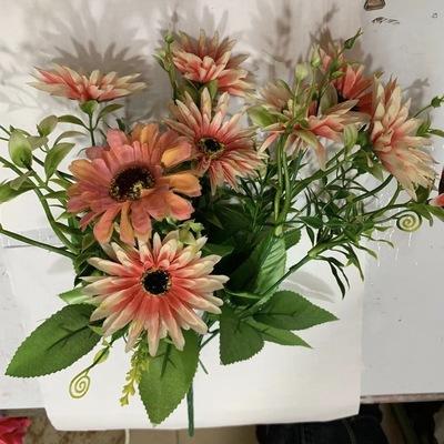 仿真花假花餐桌卧室客厅装饰品摆设花酒柜工艺品白红色塑料花