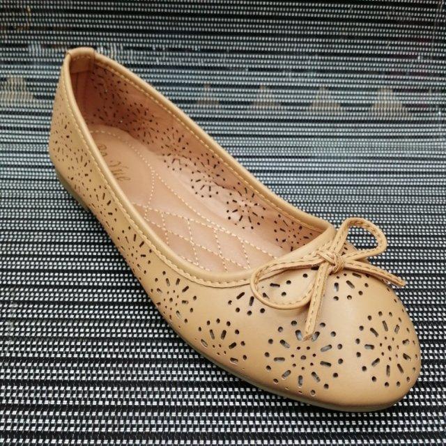 时尚休闲平底豆豆鞋平跟女鞋春夏新款舒适船鞋单鞋蝴蝶结镂空