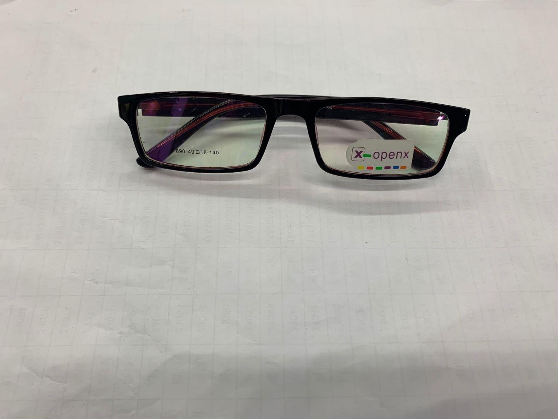 防辐射眼镜框全框超轻时尚眼镜架磨砂黑