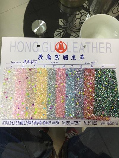 夜光钻石 pet 厂家直销 20年新款 箱包材料 装饰革
