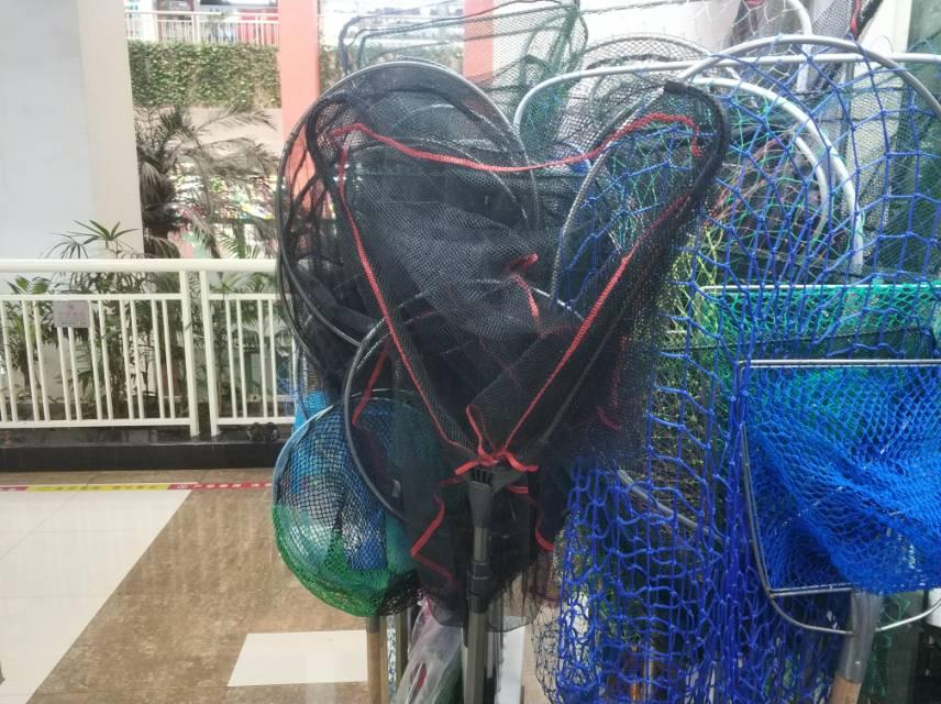 不锈钢抄网竿捞渔网抄伸缩杆钓鱼抄网套装组合全套捕鱼网兜操渔具