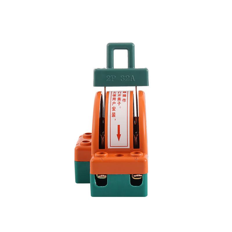 100A倒顺转换电闸家用220v跟头刀闸电瓶切换双向双投闸刀开关
