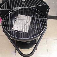 户外拆卸烧烤炉木炭烧烤架野餐炉家用实惠型烧烤炉 圆炉 20寸