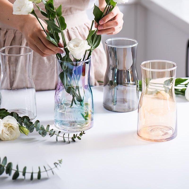 园艺简约风现代玻璃花瓶2016011