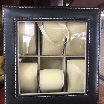 6格欧式皮质手表盒收纳盒腕表展示盒机械表首饰盒手表盒子手链整理盒