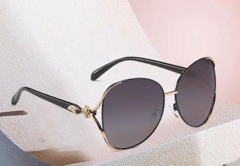 新款偏光太阳镜圆脸墨镜女潮眼镜大框