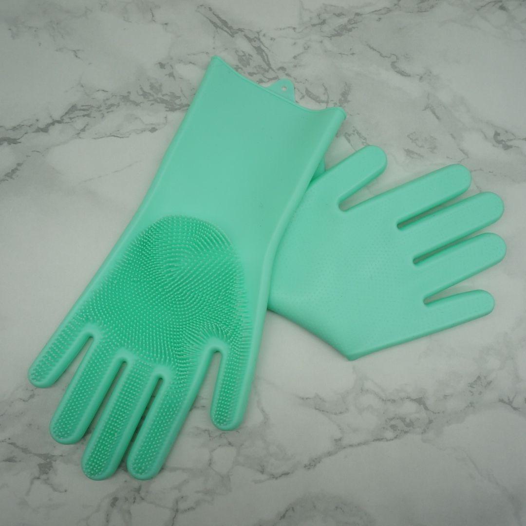 硅胶手套洗碗手套搓澡手套厨房用具清洁用品