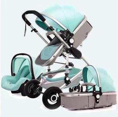 婴儿推车高景观可坐可躺轻便折叠新生儿双向避震宝宝小孩手推童车
