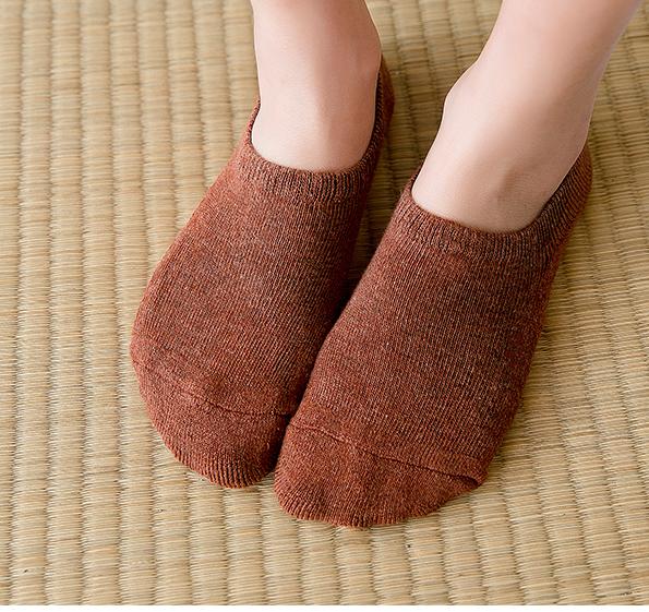 男士春夏款纯色浅口防滑硅胶隐形袜子男棉袜休闲短袜