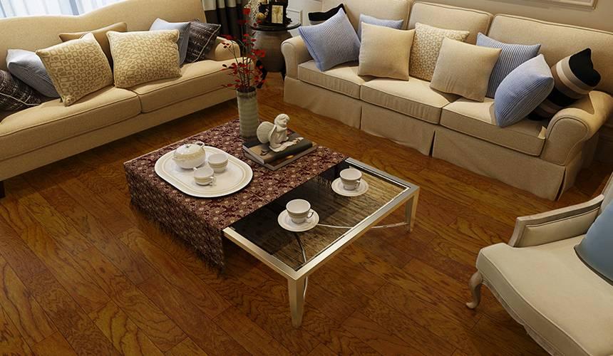 大艺树圣殿山核桃多层实木复合现代北欧风木地板客厅卧室环保耐磨