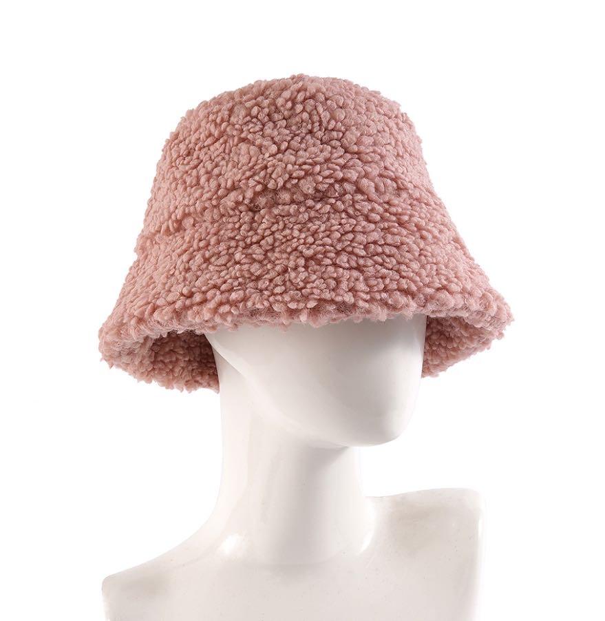 女士围巾时尚潮流百搭爆款羊羔毛渔夫帽