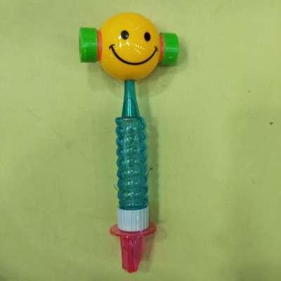 儿童玩具泡泡棒笑脸锤口哨外形户外互动吹泡泡机女男孩浓缩液泡泡水泡泡枪