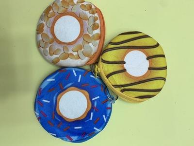 甜圈圈少女零钱包创意儿童卡通玩具收纳包